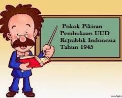 Pokok-Pokok Pikiran Pembukaan Undang-Undang Dasar Negara Republik Indonesia Tahun 1945.
