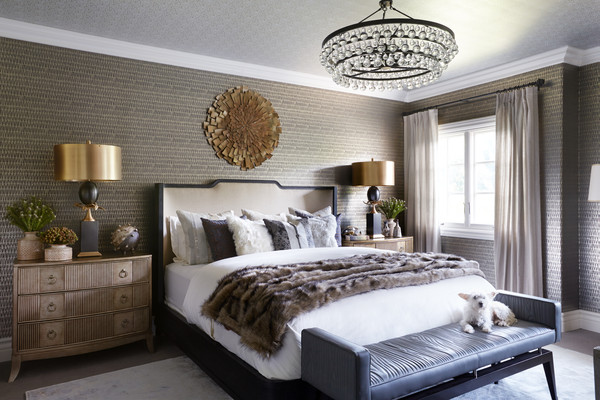 wallpaper sophisticated bedroom kelly cuoco guest room