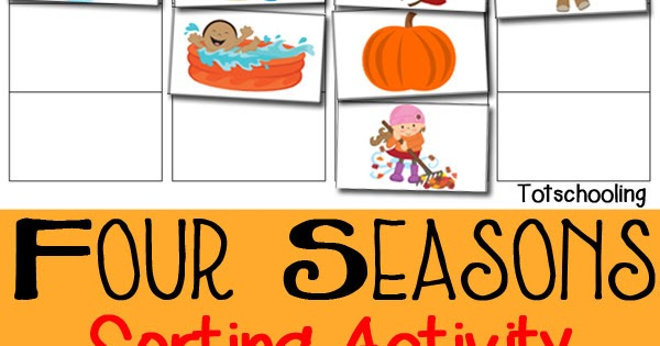 graphic relating to Season Printable identify 4 Seasons Sorting Sport Cost-free Printable Totschooling