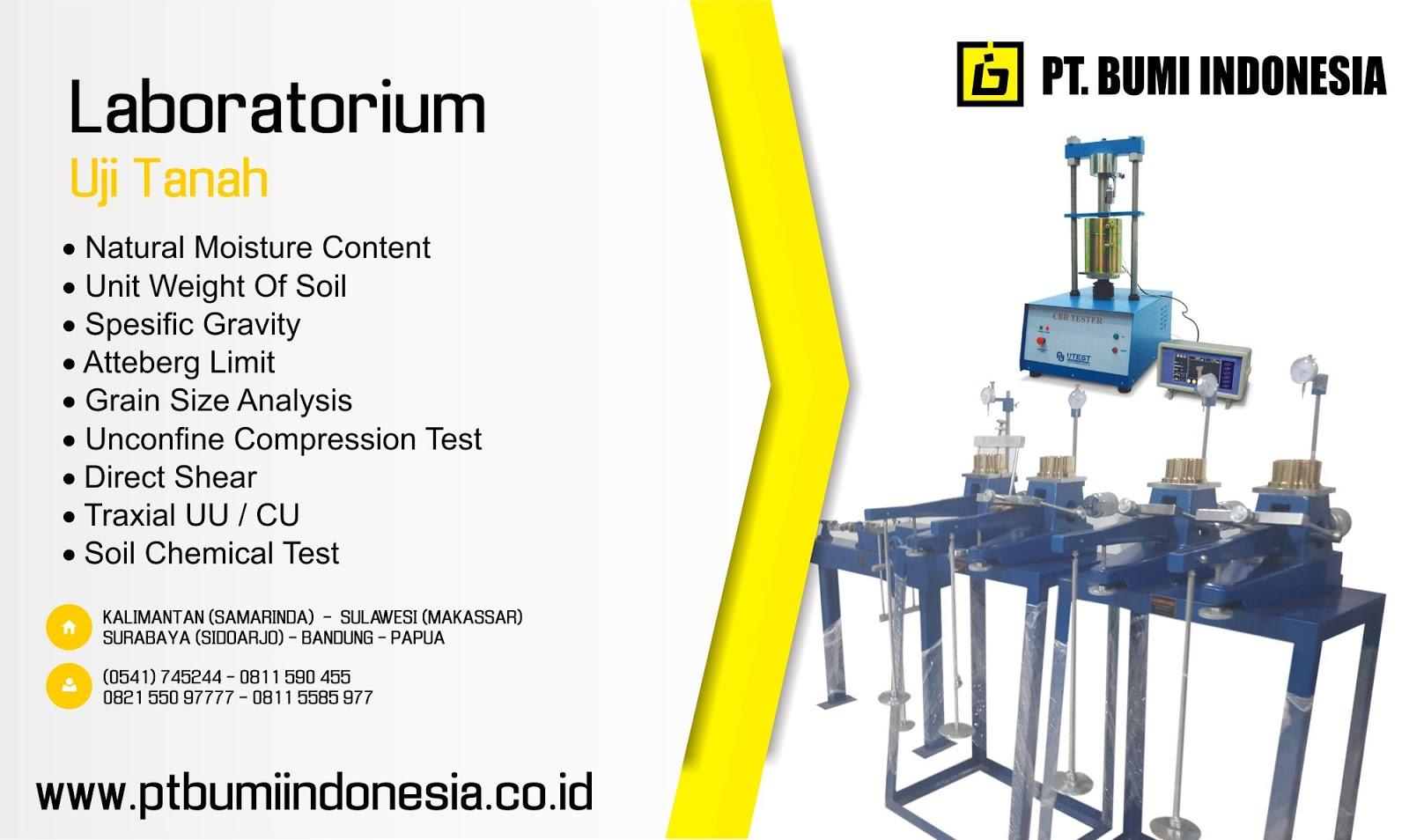 Jasa Sondir Topography Bor Air Lab Uji Tanah Makassar Jasa Sondir Dan Soil Test Sulawesi Tengah Palu Pt Bumi Indonesia