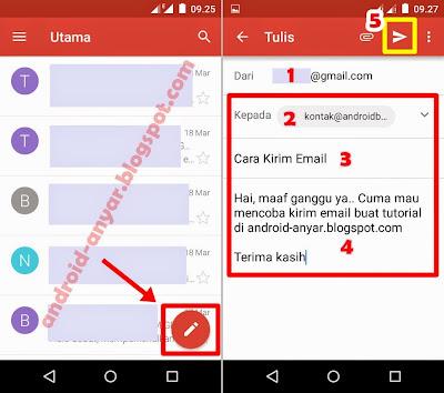 Cara Membuat/menulis Email Baru di Gmail Android