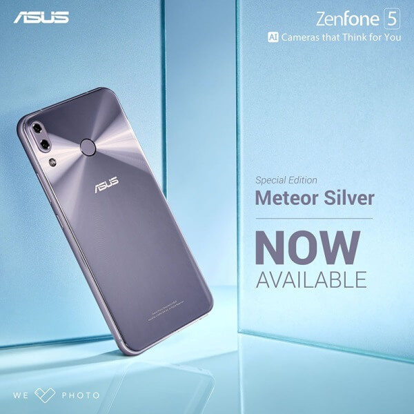 ASUS ZenFone 5 Meteor Silver Now Official in PH!