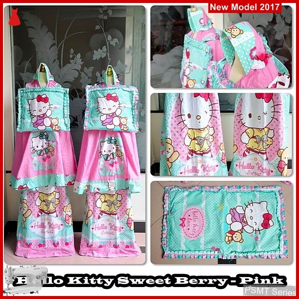 PSMT084A Mukena Anak Hello Kitty Sweet Berry Pink Size