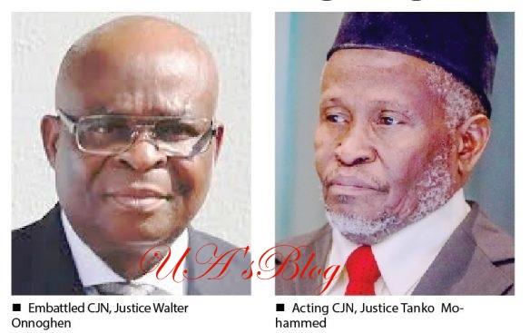 Onnoghen: Crisis Looms As Acting CJN Tanko Muhammad's Tenure Set To Expire