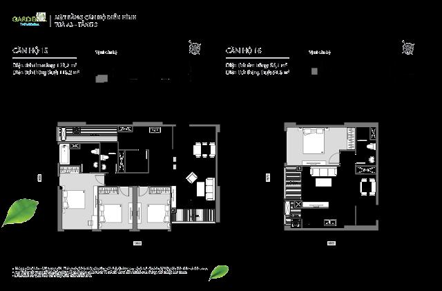 15 và 16 tầng 3 The Arcadia Vinhomes Gardenia