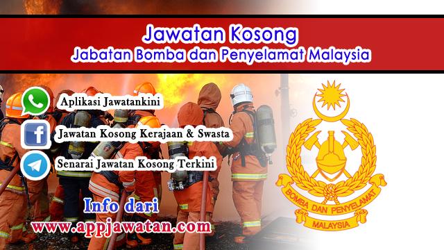 Jawatan Kosong di Jabatan Bomba dan Penyelamat Malaysia