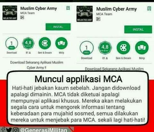 Jebakan Betmen Aplikasi MCA Android