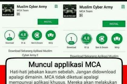 Awas! Jangan Instal Aplikasi MCA (Muslim Cyber Army) di Android, Jebakan Betmen