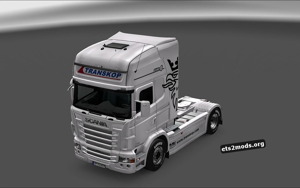 Two Transkop Tuzla Skin For Scania RJL