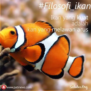 Filosofi Ikan, Kuat di Derasnya Arus Air