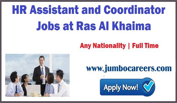 New jobs in Ras Al Khima, HR jobs in RAK,