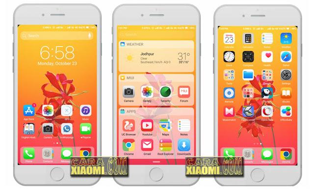 Tema Iphone untuk Xiaomi MiBose iOS 11.5X Mtz [Update Release 2018] [For MIUIV8 / MIUIV9]