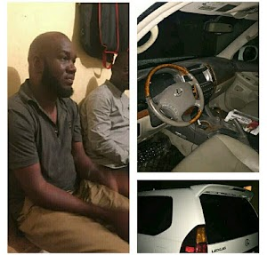 Abuja Based Man Arrested While Celebrating The Stolen SUV He Acquired (Photos)