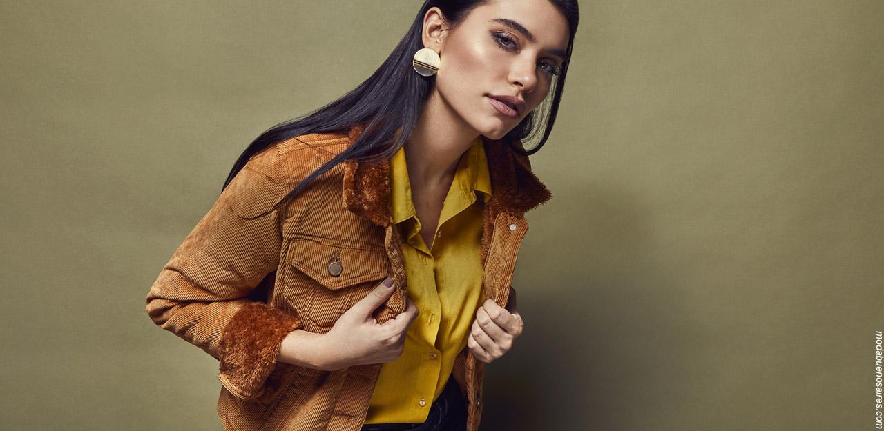 Moda otoño invierno 2019. Ropa de mujer moda jeans invierno 2019.