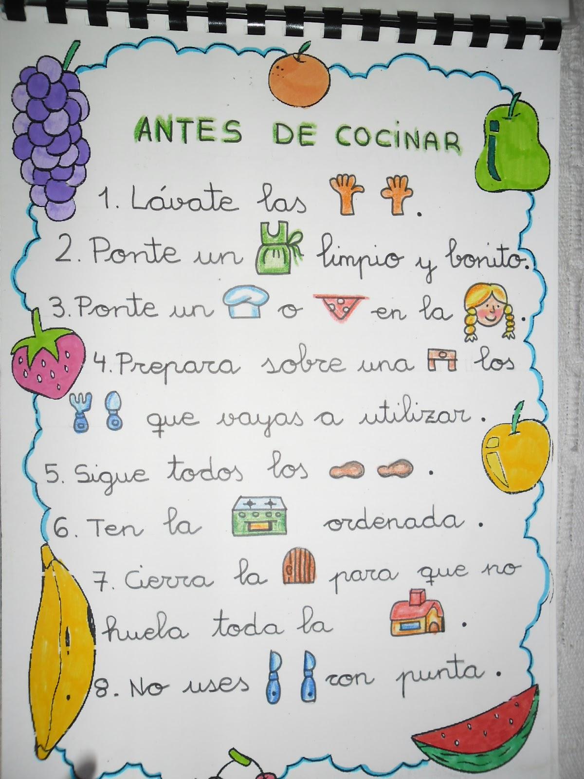 Recursos de educaci n infantil libro de recetas for Proyecto de comedor infantil
