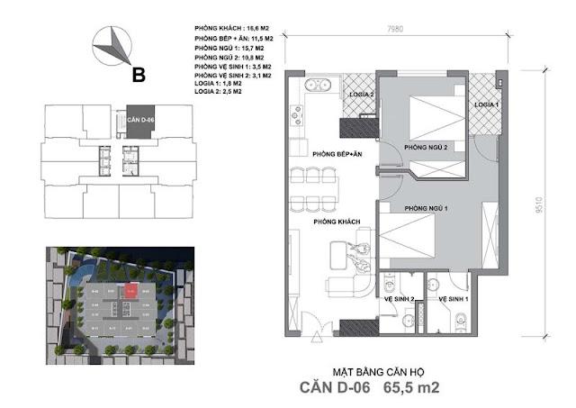 Thiết kế căn hộ D Start Up Tower