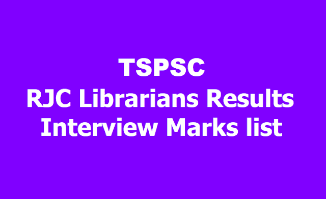 TSPSC RJC Librarians Results