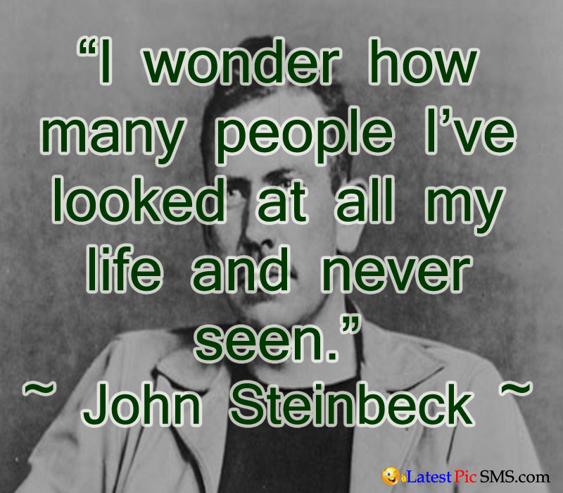 john steinbeck thought quotes - SMS of The Day in English with Pictures for Whatsapp & Facebook