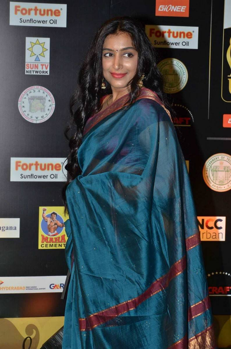 Padmapriya Stills At IIFA Awards In Blue Saree