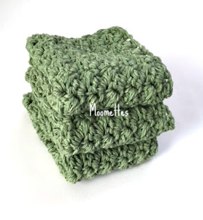 Green Handmade Dish Cloths