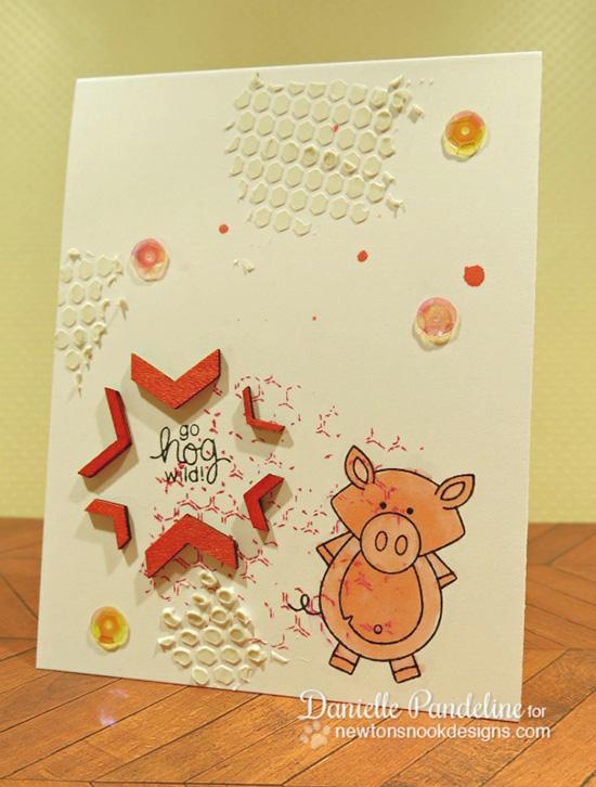Hog Wild Pig Card by Danielle Pandeline | Farmyard Friends Stamp Set by Newton's Nook Designs