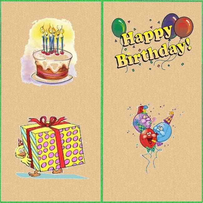 happy birthday printable cards  slim image