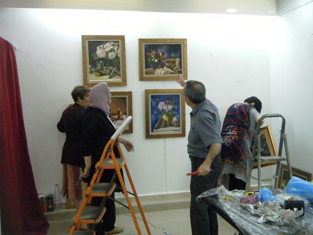 Préparatifs de l'expo de l'atelier artémisia 15