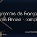 Programme de Français  - 8eme Annee - complet