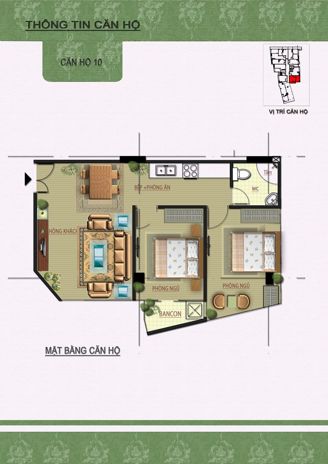 Chi tiết căn 10 chung cư Núi Trúc Square
