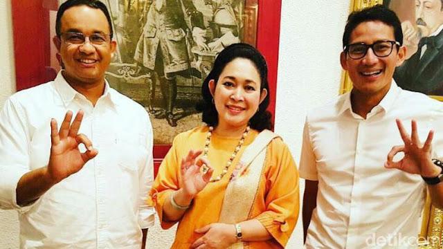 Titiek Soeharto: Saya Mendukung Anies-Sandiaga karena Perintah Agama, Saya gak Pakai Atribut Partai