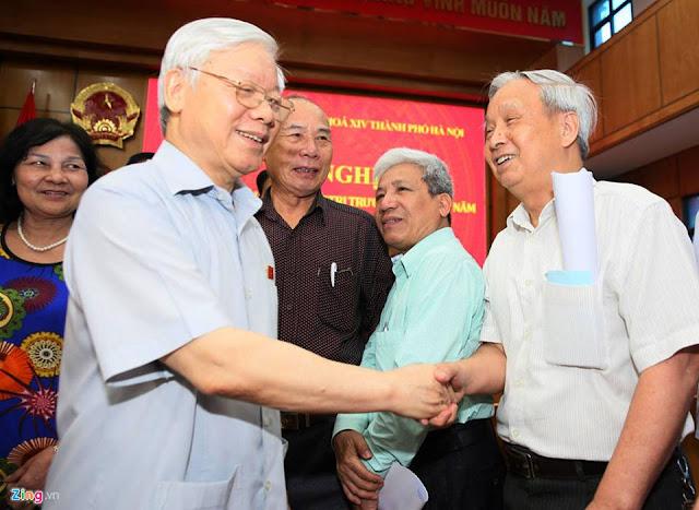 Tổng bí thư Nguyễn Phú Trọng cùng các đại biểu Quốc hội