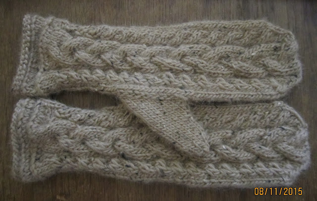 Tageswerke - mein Handarbeitsblog: Zopfmuster Handschuhe