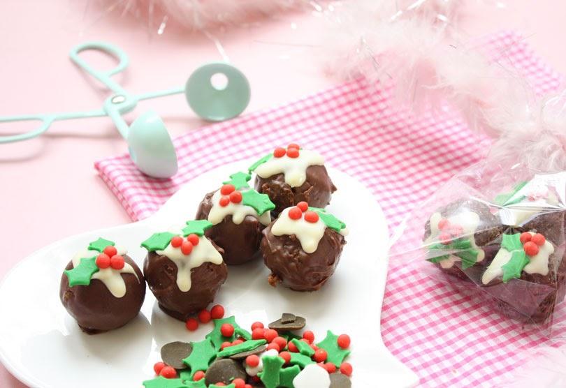 festive gingerbread truffles