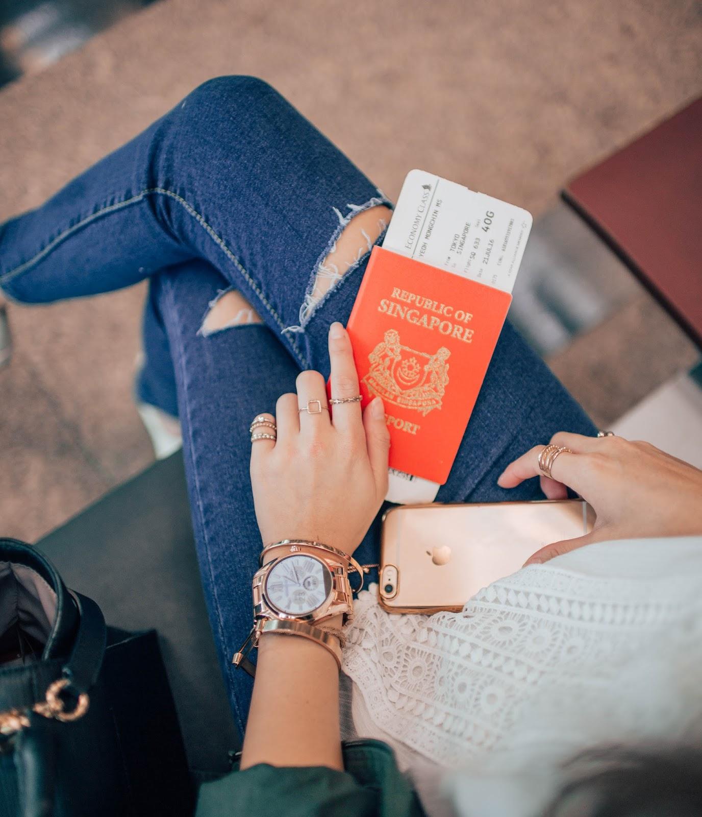 singapore, airport, watch, rosegold, michaelkors, review