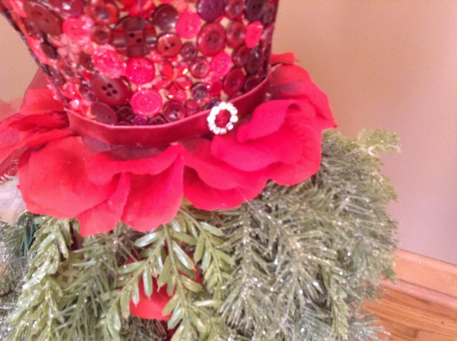 Cricutcraftyclare: Dress Form Christmas Tree with Quarter Scale Form
