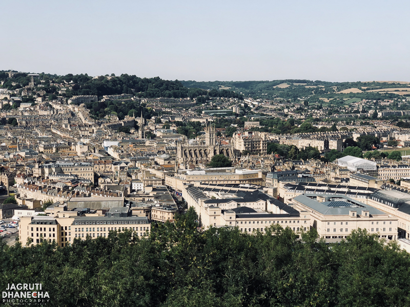 View of bath city from Alexandra park united kingdom