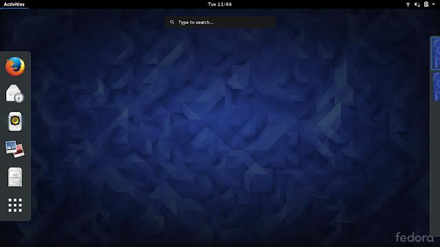 Fedora 23 utilizando o ambiente de trabalho GNOME 3.18