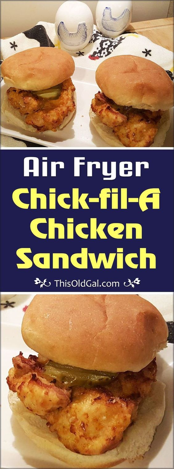 Air Fryer Chick-fil-A Chicken Sandwich