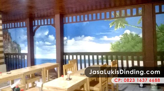 Lukisan Dinding 3D / Realis