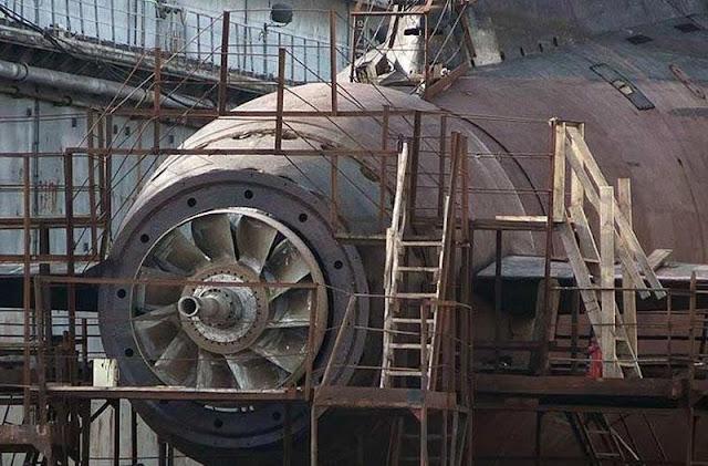 El único submarino proyecto 877 (clase Kilo) con pump- jet