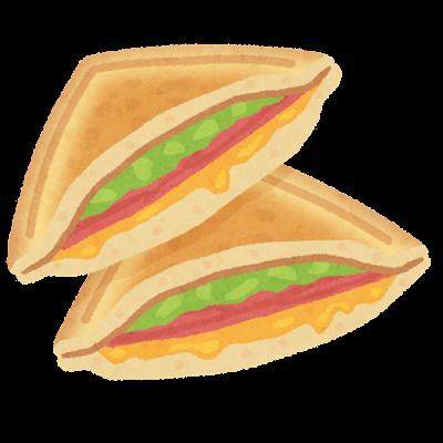 ホットサンドイッチのイラスト