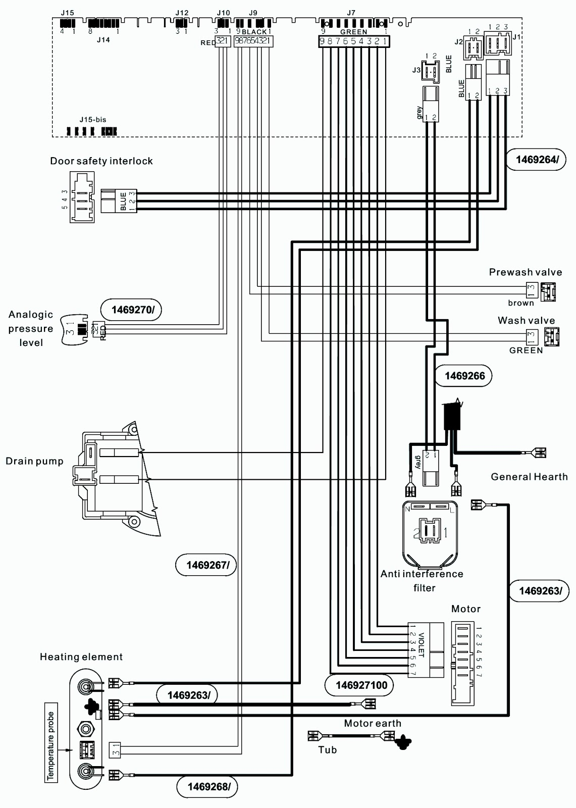electrolux schematic diagram