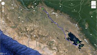 Trajeto detalhado de Copacabana / Bolívia a Cusco / Peru - 532 km.