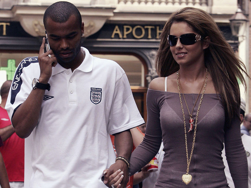 Ashley cole and his wife