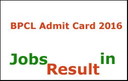 BPCL Admit Card 2016