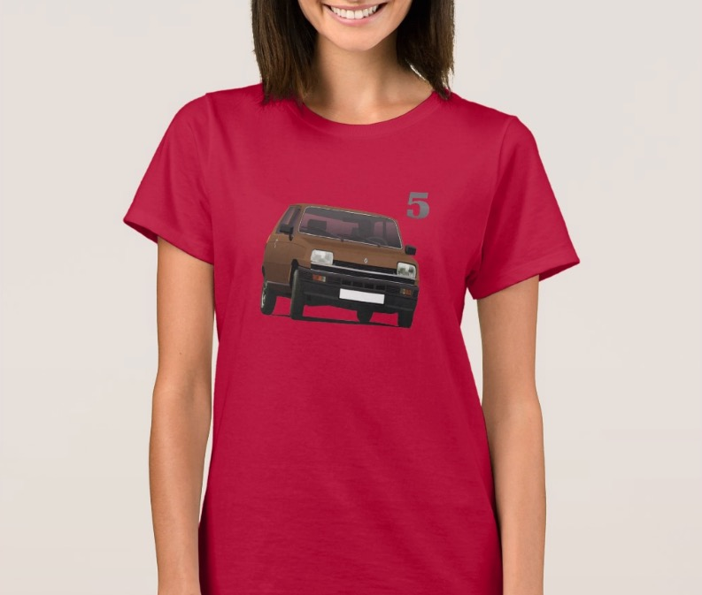 renault 5 t shirt car illustrations printed on t shirts and other gifts. Black Bedroom Furniture Sets. Home Design Ideas