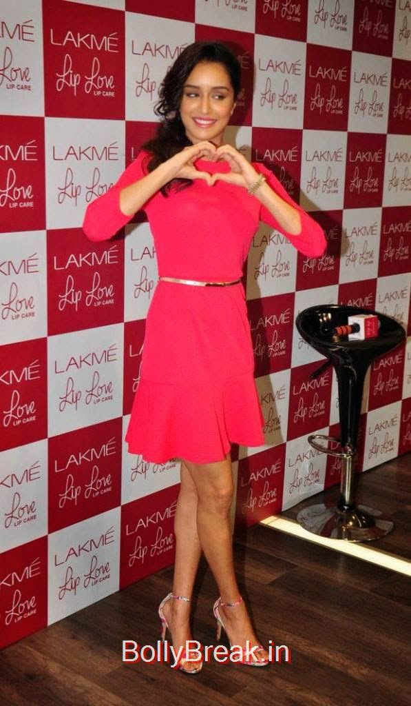 Shraddha Kapoor Pictures, Hot Pics Of Shraddha Kapoor in red dress from LAKME Event