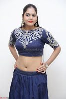Ruchi Pandey in Blue Embrodiery Choli ghagra at Idem Deyyam music launch ~ Celebrities Exclusive Galleries 021.JPG