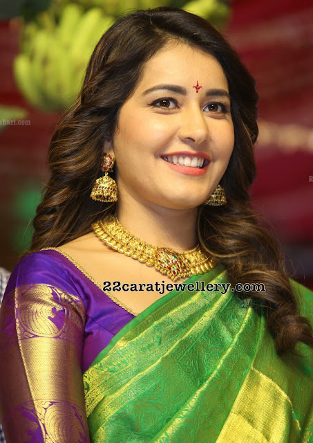 Raashi Khanna Kasu Mango Necklace