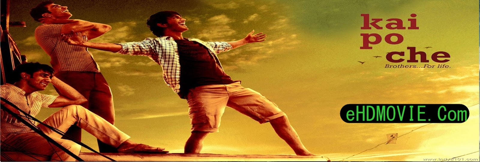 Kai Po Che! 2013 Full Movie Hindi 720p - 480p ORG BRRip 350MB - 900MB ESubs Free Download